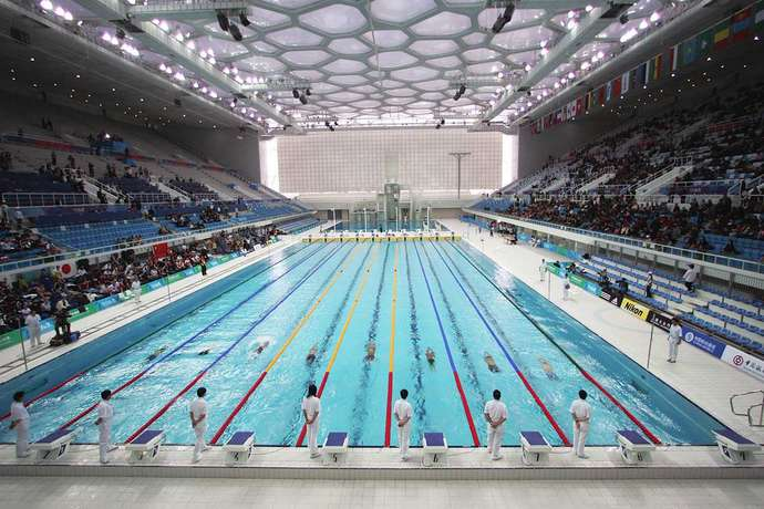 Gail swimming pool ceramics for sports and competition pools